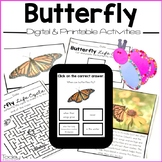 Butterflies Digital and Printables Resource (Distance Learning)