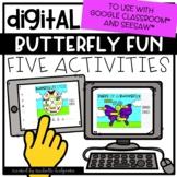 Butterflies Distance Learning Digital Activities for Googl