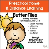 Butterflies:  Distance Learning No Prep Packet For Prescho