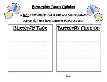 Butterflies: Fact & Opinion