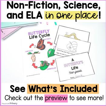 Butterflies Non-Fiction ELA & Science Unit