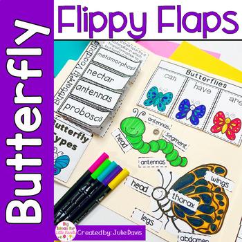 Butterflies Flippy Flaps Interactive Notebook Lapbook