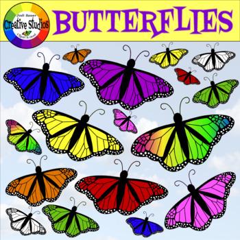 Butterflies - Free Clip Art! (Creative Studios)