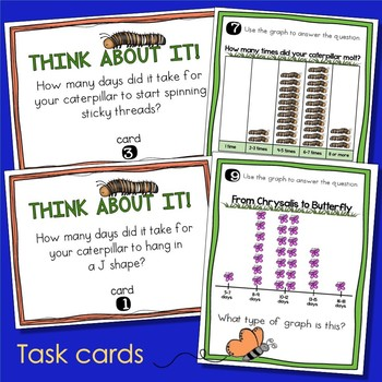 Butterfly Life Cycle Graphing Activities - Live Butterflies Data & Graphing