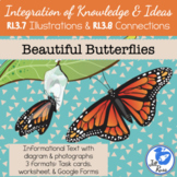 Butterflies Informational Text Diagrams Illustrations Task Card RI.3.7 RI.3.8