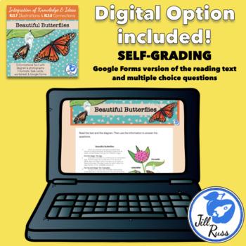 Butterflies Informational Text Diagrams Illustrations Task Card RI.3.7 RI.3.8