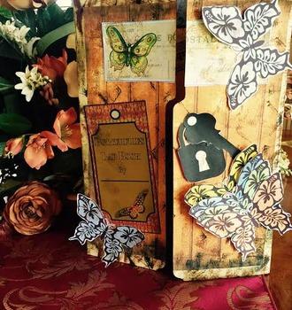 Butterflies Lap Book Vintage