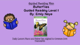 Butterflies (Level I) Guided Reading Lesson Plan