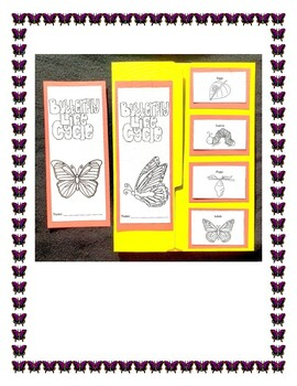 Butterflies Life Cycle Lapbook and Craft Project