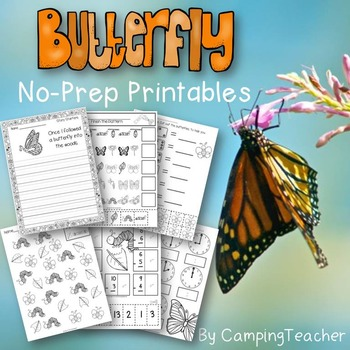 Butterflies No Prep Printables Pack