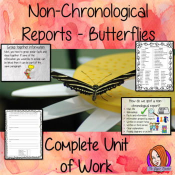 Butterflies Non-Chronological Reports   -  Complete Unit of Work