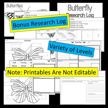 Butterflies - PowerPoint Presentation and Printables Bonus