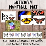 Butterflies Preschool Activity Pack - Montessori Inspired Printable