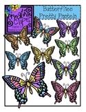 Butterflies Pretty Pastels {Creative Clips Digital Clipart}