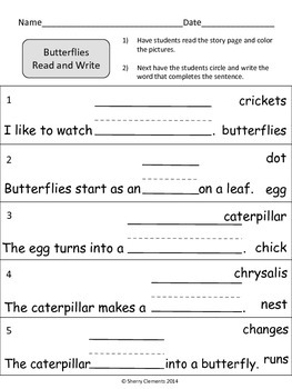 Butterflies Read and Write