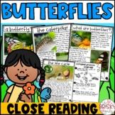 Butterflies Reading Passages | Butterflies Close Reading