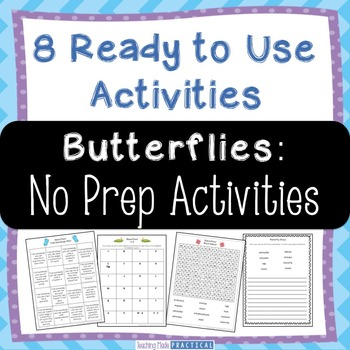 Fun No Prep Butterfly Activities