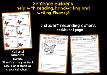 Butterflies Sentence Builders