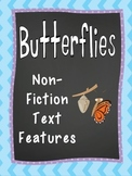 Text Feature Practice - Monarch Butterfly Reading Passage and Diagram