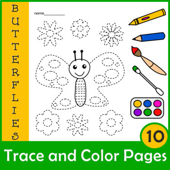 Butterflies Trace and Color Pages