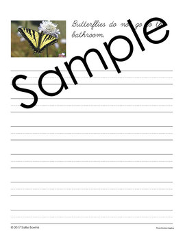 Butterflies Unit - Copywork - Cursive - Handwriting