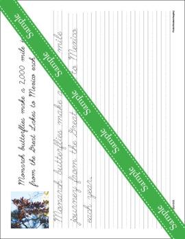 Butterflies Unit - Copywork - Print - Handwriting