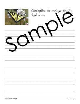 Butterflies Unit - Copywork - Print and Cursive - Handwriting