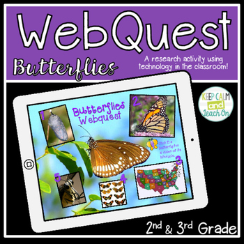 Butterflies Webquest - A Research Activity for Primary Learners