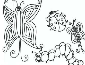 Butterflies and Bugs Printable