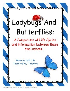 Butterflies and Ladybugs:  Comparing Life Cycles and Infor