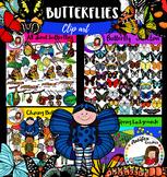 Butterflies bundle clip art- 204 items!!
