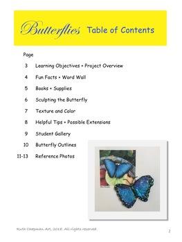 Butterflies in Model Magic + Tempera