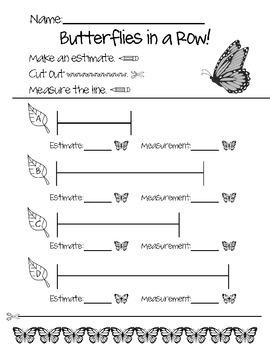 Butterflies in a Row! - Nonstandard measurement FREEBIE