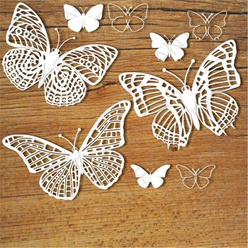 Butterflies (set 1) SVG files for Silhouette Cameo and Cricut.