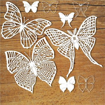 Butterflies (set 2) SVG files for Silhouette Cameo and Cricut.