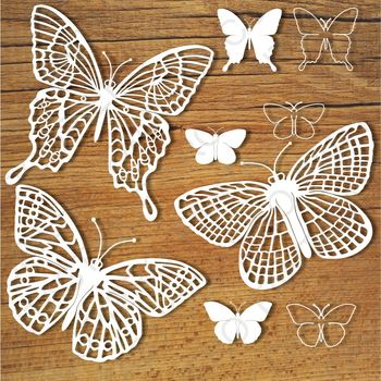 Butterflies (set 3) SVG files for Silhouette Cameo and Cricut.