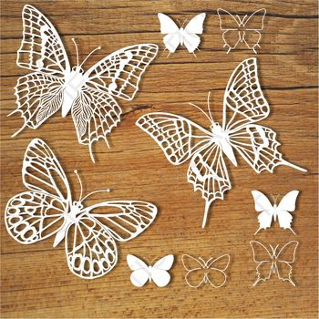 Butterflies (set 4) SVG files for Silhouette Cameo and Cricut.