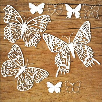 Butterflies (set 5) SVG files for Silhouette Cameo and Cricut.