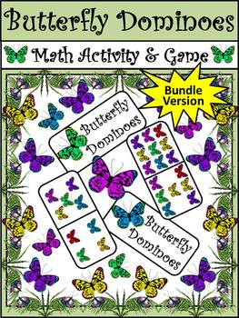 Butterfly Activities: Butterfly Dominoes Spring Math Activity Packet