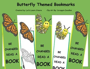 Butterflies Bookmarks