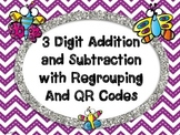 Butterfly 3-Digit Addition and Subtraction with Regrouping
