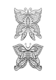 Mindfulness Coloring Page - Butterfly