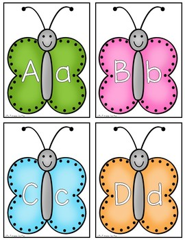 Butterfly ABC {Capitals and Lowercase}