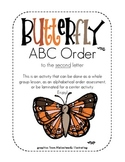 Butterfly ABC Order, to the second letter