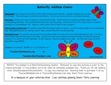 Butterfly Addition Center Printable Sums 12-20
