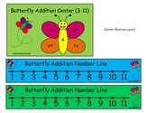 Butterfly Addition Center Printable Sums 3-11