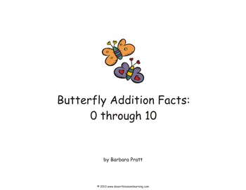 Butterfly Addition Facts: 0-10 Spring Flashcards eBook