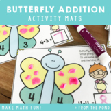 Butterfly Addition - Play Doh Mats