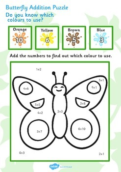 Butterfly Addition Puzzle (0-10)