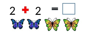 Butterfly Addition and Subtraction Mix Up